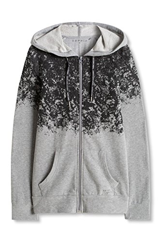 ESPRIT Sports Casual Sweatcardigan Mit Kapuze Modisch Bedruckt, Tuta Sportiva Donna Grigio (MEDIUM GREY 2 036)