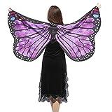 SHOBDW Hot !!! Clearance Weiche Stoff Schmetterlingsflügel Schal Fee Damen Nymph Pixie Kostüm Zubehör (147 * 70CM, Lila-1)