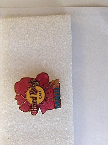 1999-pin Hard Rock Cafe (Maui Hawaii Pink Hibiscus Blume Blooming aus einem rot auf gelb Logo, Hard Rock Cafe Pins B-17-5358)