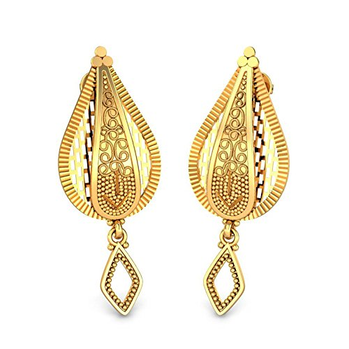 f5c056d37 Candere By Kalyan Jewellers 22k (916) Yellow Gold Aakriti Drop Earrings for  Women - Gia Designer
