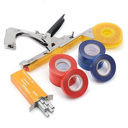 TuToy Gelbe Metall Hand Werkzeug Tie Stapler Vine Branch Binden Band Set - Pflaumen Gurke