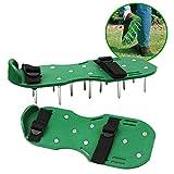 Rasen-Belüftungs-Schuh-Garten-Spikes-Sandelholze mit Nylonschnallen und 2 Riemen für das Belüften Ihres Rasen oder des Yards