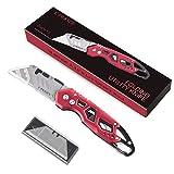 Ginnix Cúter Cuchillo plegable para uso general con 6 cuchillas...