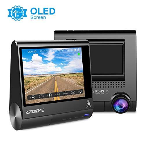 """AZDOME 3\"""" OLED Touchscreen 1080P Dashcam mit GPS, 170° Weitwinkelobjektiv, Loop-Aufnahme, G-Sensor, Parkmonitor und infrarote Nachtsicht Autokamera KFZ Kamera Auto Dashcam(M05)"""