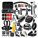 MachinYeseed 53-in-1-Kamera-Kombinationszubehör-Kit Selfie-Stick Schwimmkörper für Go Pro 7 6 5 4 3+ Sportkamera schwarz