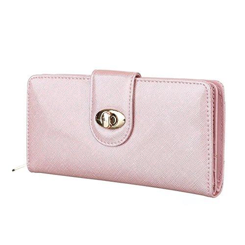 Damen Portemonee Geldbörse Brieftasche Rosa (Prada Taschen Geldbörsen)