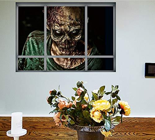 mbie Wandaufkleber Horror Poster Fenster Ansicht Große Größe Aufkleber Halloween Geschenke Raumdekoration Wandtattoos Kinder Geschenke ()