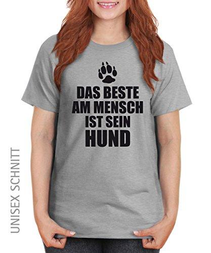 ::: DAS BESTE AM MENSCH ::: Girls T-Shirt ::: auch im Unisex Schnitt Sports Grey