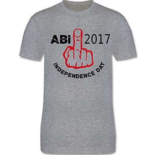 Abi & Abschluss - Independence Day - Abi 2017 - Herren Premium T-Shirt Grau Meliert