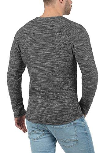 Blend laslo Herren Sweatshirt Longsleeve Aus 100% Baumwolle in Melange-Optik Phantom Grey (70010)