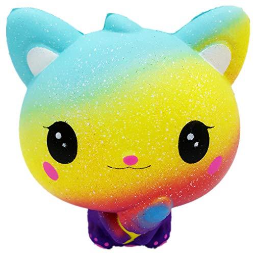 ODJOY-FAN Giocattolo stella gatto PU adatto a tutti i gruppi di pressione-Rimbalzo Lento Giocattolo PU -Perfetti Regali Educativi per il Compleanno e Natale per i Bambini Sopra