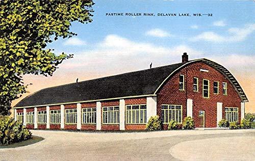 Pastime Roller Rink, Delavan Lake Wisconsin USA Unused (Lake Delavan)