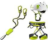 Edelrid Klettersteigset Cable Comfort 5.0 + Klettergurt Camp Größe M + Helm Camp Titan White 48-56cm