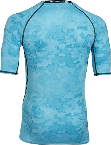 Under Armour Herren Fitness T-Shirt und Tank Armour HG Comp Printed SS Tee Island Blue