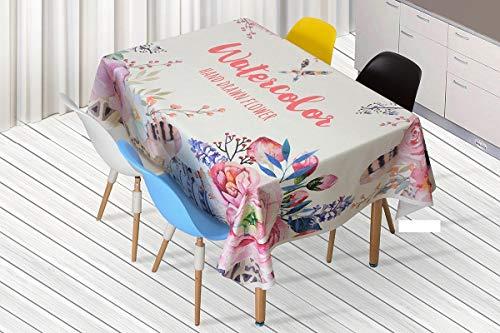 QWEASDZX Rechteckige Tischdecke Moderne Tischdecken Schlichte Persönlichkeit Digitaldruck Rechteckige Tischdecke Geeignet für drinnen und draußen Picknicktischdecke 140x180cm