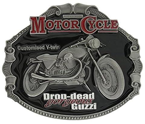 Boucle de ceinture Officially Licensed MOTO GUZZI Classic Motorcycle, en un de mes présentation en coffrets.