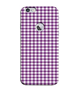 PrintVisa Designer Back Case Cover for Apple iPhone 6S (Logo Cut Case) (contrasting graph checked design view)