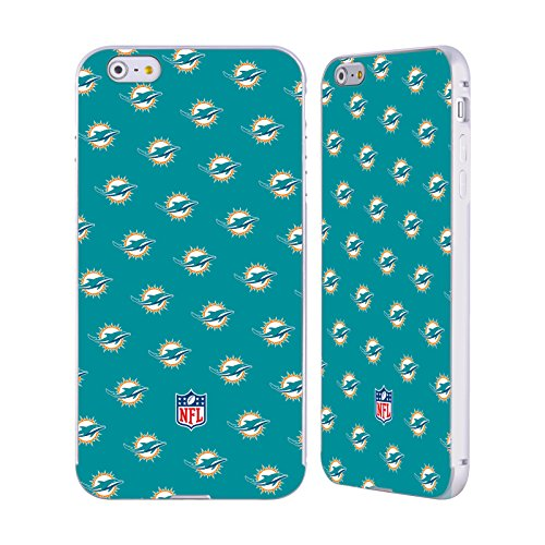 Ufficiale NFL Pattern 2017/18 Miami Dolphins Argento Cover Contorno con Bumper in Alluminio per Apple iPhone 5 / 5s / SE Pattern