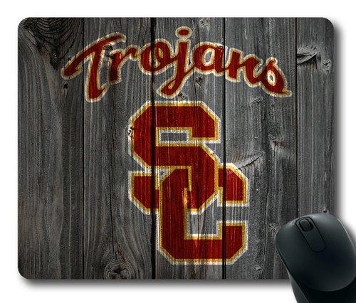 Usc Trojans Computer (Customizablestyle NCAA Wood USC Trojans Logo Mousepad, Customized Rectangle DIY Mouse Pad)