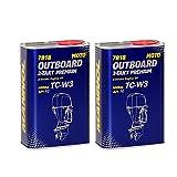 MANNOL 2 x 1L 2-Takt Premium Outboard/API TC NMMA TC-W3 Bootsmotorenöl