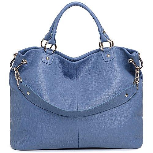 Chlln Neue Bestellten Pakete, Neue, Einfache Pakete, Europa Und Amerika Mit Schrägen Schulter Mode Blue and white