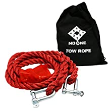 NoOne Car Heavy Duty Recovery Tow Straps for SUV Pickup in Maximum Length 10ft and Max Load Weight 5 Tonnes