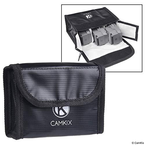 Explosionsgeschützte LiPo Akku Tasche für DJI Mavic 2 - Feuerresistente Sicherheits- und Aufbewahrungstasche - Sichere Ladung + Transport - Für 3 Mavic 2 Akkus - Lösung für Flugzeug-Handgepäck -