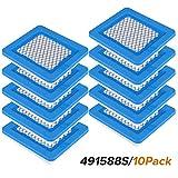 Rasenmäher Luftfilter, La Vane 10 Stück Luftfilter Ersatz für Briggs & Stratton 39959 491588S 491588 4915885