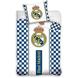 Mercury Funda Nórdica y Almohada Diseño Real Madrid, Mezcla de Algodón, Blanco, King, 160x3x200 cm