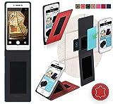 Oppo Neo 7 Hülle in Rot Leder - innovative 4 in 1
