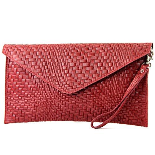 modamoda de - Made in Italy , Pochette pour femme Klein rouge foncé