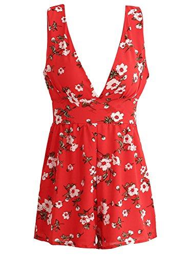 Simplee Apparel Damen Jumpsuit Rot 1