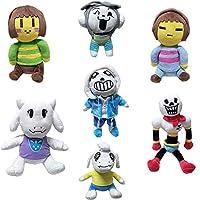 EU_LevinArt 7 Pcs Undertale Plush Toys Doll 20-30cm Undertale Sans Papyrus Asriel Toriel Temmie Chara Frisk Stuffed Plush Toys Kids