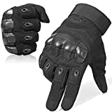 WTACTFUL Touch Screen Rubber Hard Knuckle Full Finger Gloves for Motorcycle Cycling Climbing