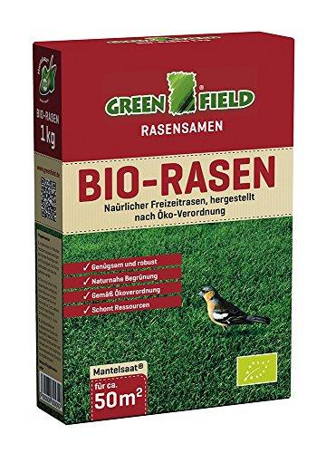 Greenfield Bio-Rasen – 1 kg | Bio-Rasensamen von Feldsaaten Freudenberger