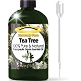 Tea Tree Essential Oil (HUGE 4 OZ / Dropper - 120ml) 100% Pure Therapeutic Grade - Tea Tree Oil is Great for Aromatherapy, Acne, Hair Nourishment, Sinus & Allergies, Mosquito Repellent & More!