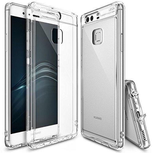 ringke–custodia Huawei P9, [Fusion] Shock assorbimento TPU paraurti [Shock tecnologia assorbimento] [conviviente tappo antipolvere] per Huawei P9–Crystal View
