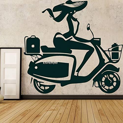 SMZYKW Wandaufkleber Motorrad Dirt Bike Vinyl Wandaufkleber Kids Home Motor Racing Abnehmbare Wandtattoo Schlafzimmer Dekor Wandbild Weihnachten Geschenk