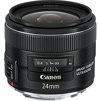 Canon EF 24 mm f/2.8 IS USM - Objetivo para Canon (distancia focal fija 24mm, apertura f/2.8-22, estabilizador, diámetro: 58mm) color negro