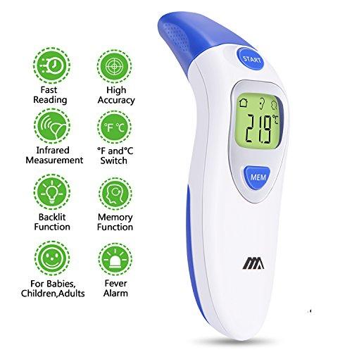 Thermomètre Infrarouge Frontal Auriculaire Pour Bébé Enfant Adulte Thermomètre Numérique Professionel Médical Infrarouge Sans Contact Fonction Mémoire Écran LCD