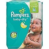 Pampers Baby Dry Windeln, Gr.5+ (Junior+) 13-27kg, Monatsbox, 132 Stück