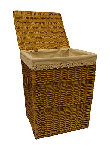 Großer Wäschekorb braun Rattan Korb Schlafzimmer Korb Badezimmer Platz Aufbewahrung