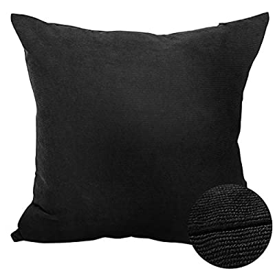 """Deconovo Corduroy Tufted Home Decorative Hand Made Pillow Case Cushion Cover With Invisible Zipper, 45x45cm(18""""x18""""), - low-cost UK light shop."""