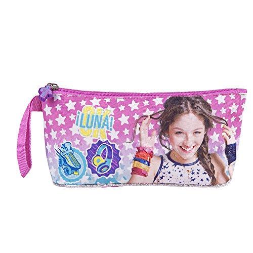 Trousse fillette pour l'école - Trousse Soy Luna de rangement des crayons et stylos - Perletti 10x21x8 cm