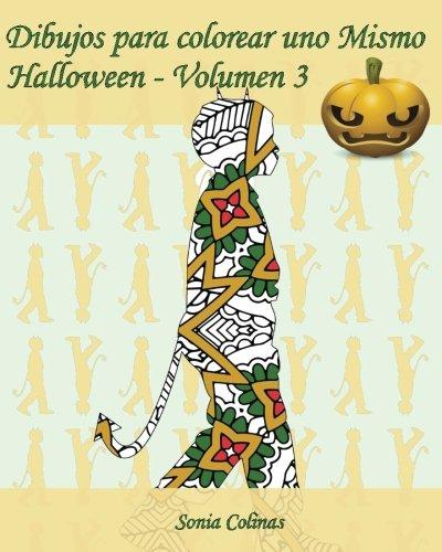 (Dibujos para colorear uno Mismo - Halloween - Volumen 3: 25 figuras de niños con trajes de Halloween)