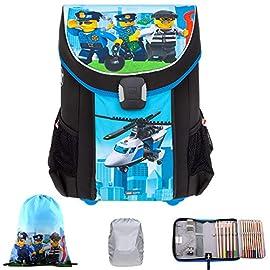 4-Teile-Schulranzen-Jungen-Lego-Easy-Schulrucksack-Ranzen-Regenschutz