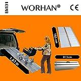WORHAN® 1.83m Rampa Plegable Carga Silla de Ruedas Discapacitado Movilidad Aluminio R6