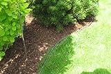 Rasenkante Metall 1180 x 120 x 95 mm einzeln - abgerundete Rasenkanten aus feuerverzinktem Stahlblech