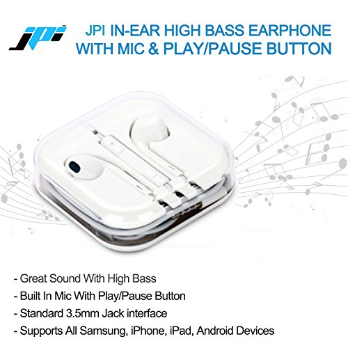 JusPic8 Stereo Earphone Hands-Free 3.5Mm Jack In-Ear Super Extra HD Bass Headphone With Mic Compatible with Samsung, Motorola, Sony, Oneplus, Htc, Lenovo, Nokia, Asus, Lg, Oppo, Vivo, Coolpad, Xiaomi, Micromax and All Mobiles  available at amazon for Rs.249