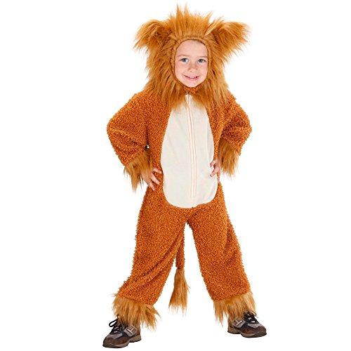 Costume vestito abito travestimento carnevale bambino leoncino fuzzy-